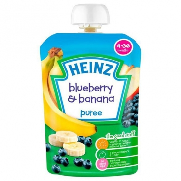 Blueberry and Banana Puree