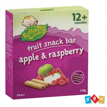 Rafferty's Garden snack bar apple & raspberry