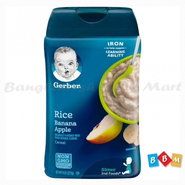 Gerber Rice Banana Apple Cereal