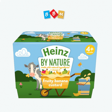 Heinz By Nature fruity banana  custard   pot 4 pcs