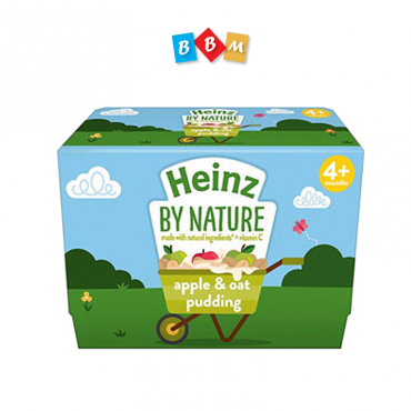 Heinz By Nature apple & oat   pudding  pot 4 pcs