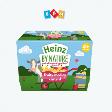 Heinz By Nature  custard  fruity medley pot  4 pcs