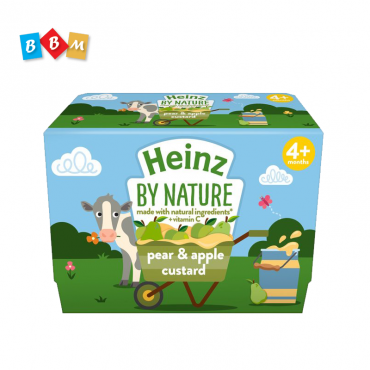 Heinz By Nature Pear & Apple  custard   pot 4 pcs