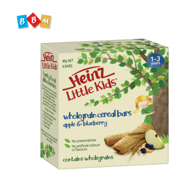 Heinz Little Kids Wholegrain cereal bars apple & blueberry