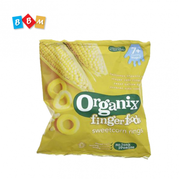 Organix finger foods sweetcorn rings
