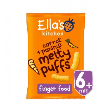 Ella's kitchen carrot+parsnip melty puffs
