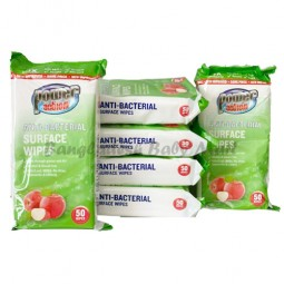 POWER ACTIOn ANTI-BACTERIAL  SURFACE WIPES